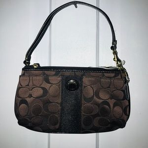 Coach Extra Large Wristlet converted to mini bag